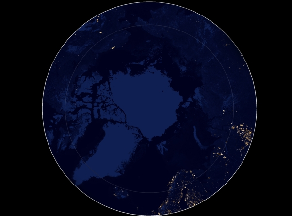 The night scapes of the Arctic will probably change due to changing connectedness (Photo: NASA).